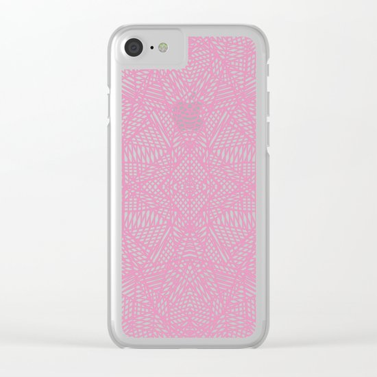 Ab Lace Pink Clear iPhone Case