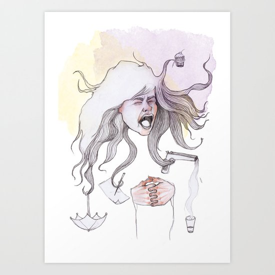 Hairs as Hands Art Print