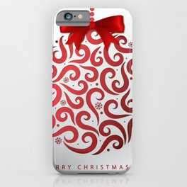Decorative Christmas Ornament Pattern iPhone Case