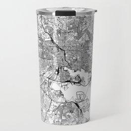 Baltimore White Map Travel Mug