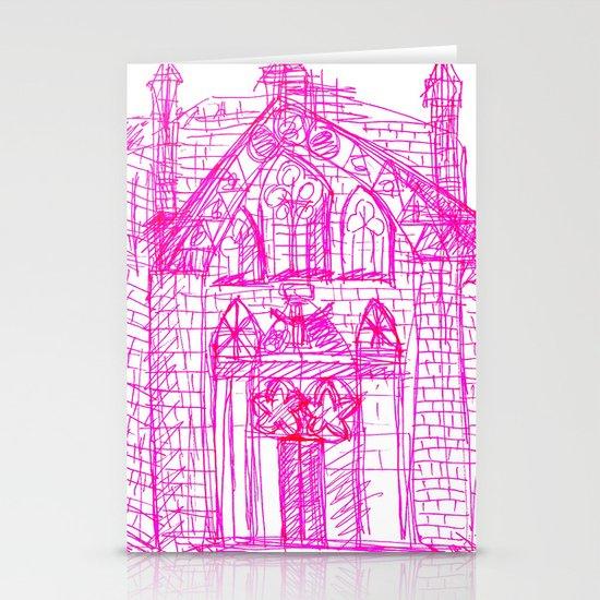 Building sketch Stationery Cards