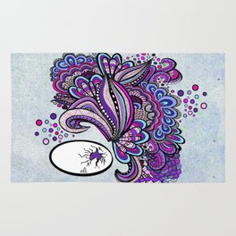 Hatched ~ a purple doodle Rug