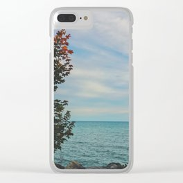 Sunset Cold Clear iPhone Case