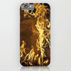 Fiery footprints  Slim Case iPhone 6s