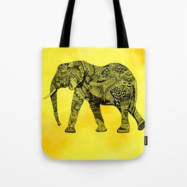 Zentangle Elephant Tote Bag