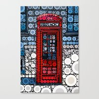telephone Canvas Prints featuring Telephone by start from scratch