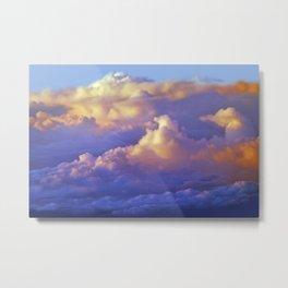 The beauty of clouds below Metal Print