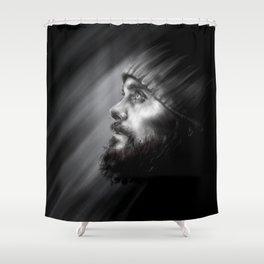 Jared Leto | Monolith Tour Digital Portrait Shower Curtain