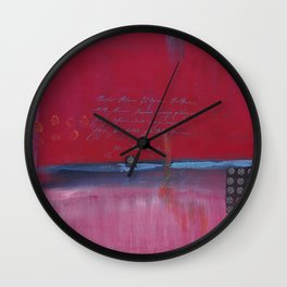 Live Each Day - Ruby Wall Clock