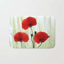 Poppies red 008 Bath Mat
