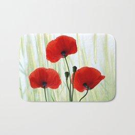 Poppies red 008 Bath Mat
