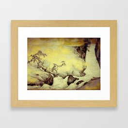 A Golden Winter Framed Art Print