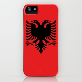 National flag of Albania - Authentic version iPhone Case