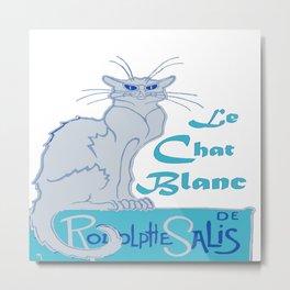 Le Chat Blanc Parody Vector Metal Print