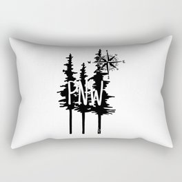 PNW Trees & Compass Rectangular Pillow