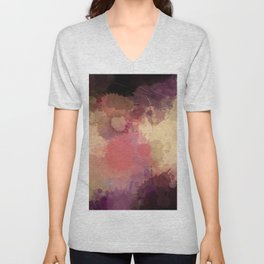 Modern Contemporary Ultra Violet Glow Abstract Unisex V-Neck