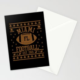 Miami Football Fan Gift Present Idea Stationery Cards