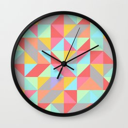 Quilt Triangles Wall Clock