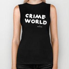 Crime World Logo Biker Tank