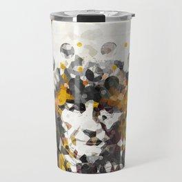 Modern Yellow Native American Indian Chief Travel Mug