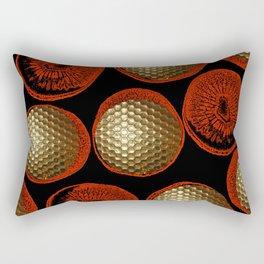 GOLD GOLF RED Rectangular Pillow