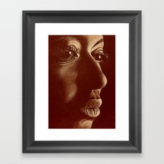 mama africa- brown Framed Art Print