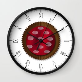 Chocolate Box Wrapped In Foil Wall Clock