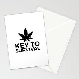Weed Cannabis leaf gift idea 420 Stationery Cards