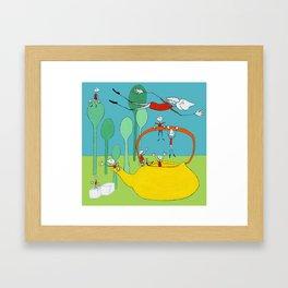Xavier's yellow Teapot  Framed Art Print