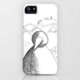 Metaphysical Penguin of Kilimanjaro 1 iPhone Case