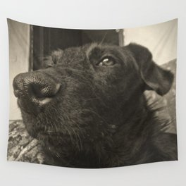 Skeptical Dog Wall Tapestry