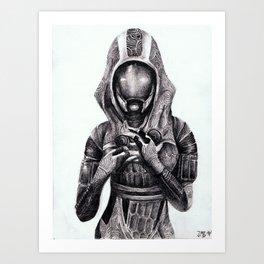 Tali`Zorha vas Normandy  Art Print