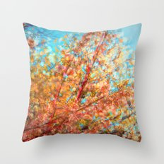 Trippin under a tree Throw Pillow