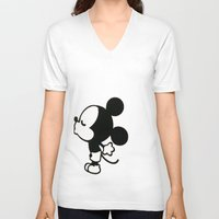 mickey V-neck T-shirts featuring mickey by ABTD