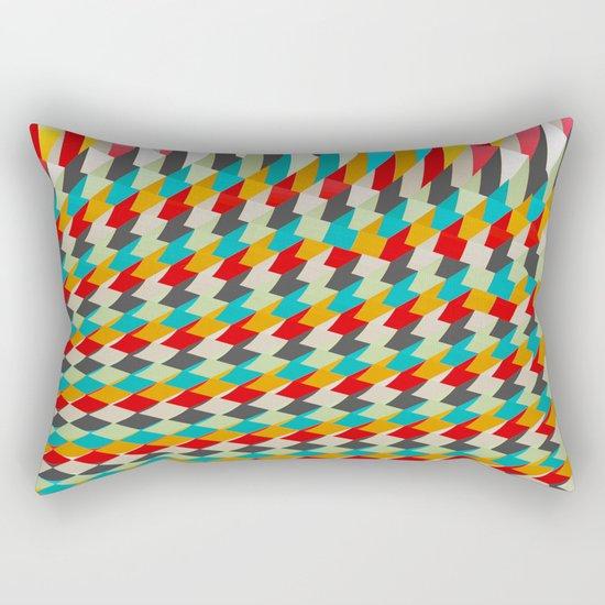 triangle color 4 Rectangular Pillow