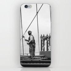 Painting the Brooklyn Bridge iPhone & iPod Skin