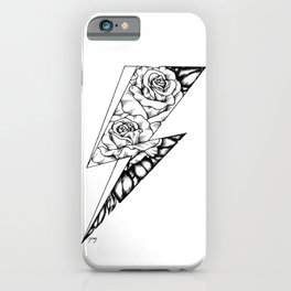 Floral Lightning iPhone Case