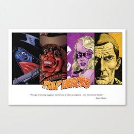 Pulp Heroes Tribute Canvas Print
