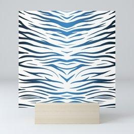 Blue Zebra Mini Art Print
