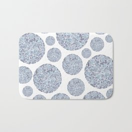 Grey Round Gem Pattern Bath Mat