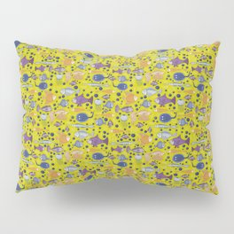 Color small fishes and sea Pillow Sham