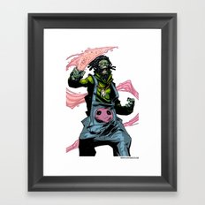x-clusive spoiler from issue#4  Framed Art Print