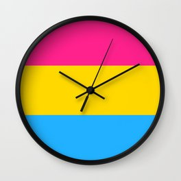 Pansexual Pride Flag Wall Clock