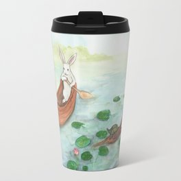 Lazy Day in the Canoe Travel Mug