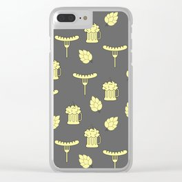 beer and sausages pattern Clear iPhone Case