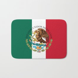 Flag of Mexico with Coat of Arms (augmented scale) Bath Mat