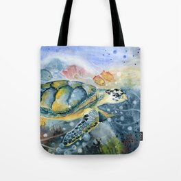 Colorful Seaturtle Art Tote Bag