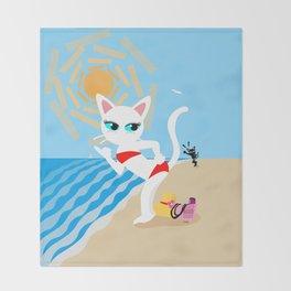 BEACH! Throw Blanket