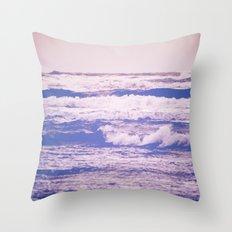 Ocean Waves - Vintage Blue Sea in California Throw Pillow