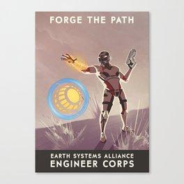 Mass Effect 3- Engineer Propaganda Canvas Print